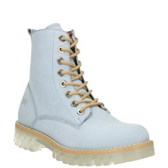 Kožená kotníčková obuv s průhlednou podešví weinbrenner, modrá, 596-9639 - 13