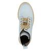 Kožená kotníčková obuv s průhlednou podešví weinbrenner, modrá, 596-9639 - 19