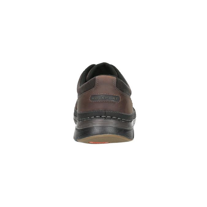 Ležérní pánské polobotky kožené rockport, hnědá, 826-4106 - 17
