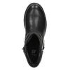 Dětská kotníčková obuv s kamínky mini-b, černá, 391-6249 - 19