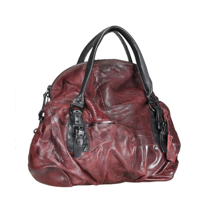Dámská kožená kabelka a-s-98, červená, 966-5005 - 13