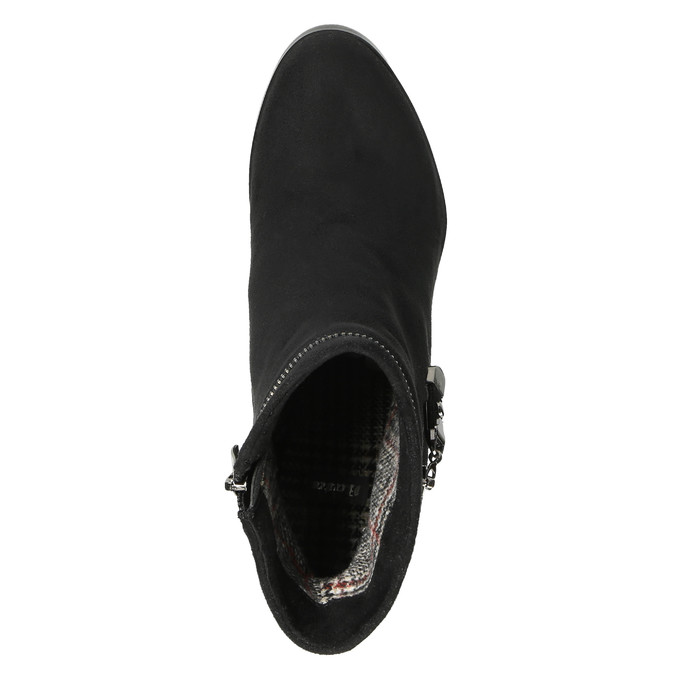 Dámská kotníčková obuv na klínovém podpatku bata, černá, 799-6631 - 19