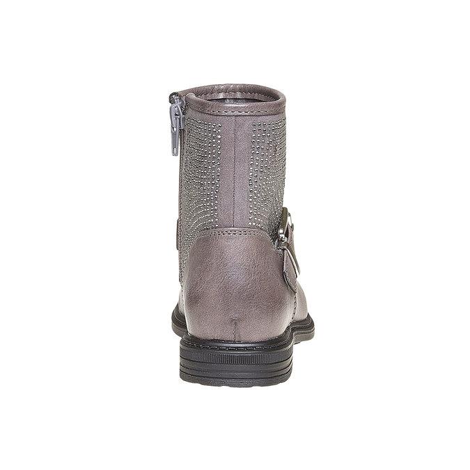Dětská kotníčková obuv s kamínky mini-b, šedá, 391-2249 - 17
