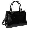 Černá kabelka se zlatými detaily bata, černá, 961-6610 - 13