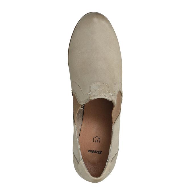 Kožená kotníčková obuv bata, žlutá, 626-8102 - 19