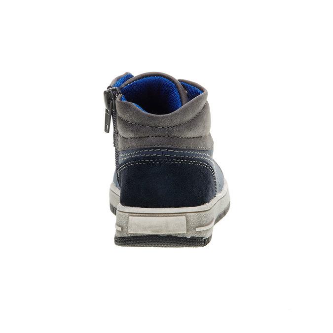 Dětské kotníčkové tenisky mini-b, modrá, 211-9133 - 17