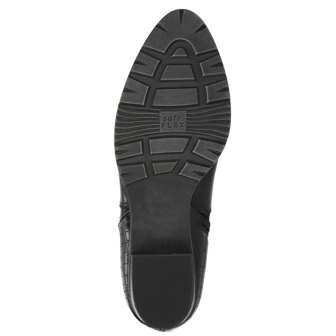 Dámská kotníčková obuv šíře H bata, černá, 696-6616 - 26