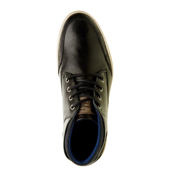 Kožené tenisky ke kotníkům bata, černá, 844-6620 - 19