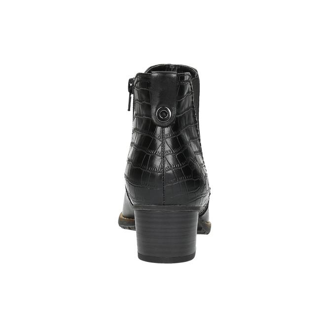 Dámská kotníčková obuv šíře H bata, černá, 696-6616 - 17