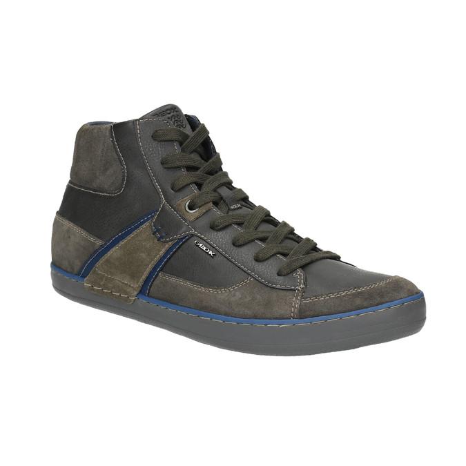 Kožená kotníčková obuv s prodyšnou podešví geox, hnědá, 823-4034 - 13