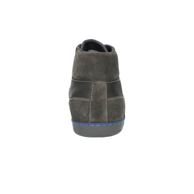Kožená kotníčková obuv s prodyšnou podešví geox, hnědá, 823-4034 - 17