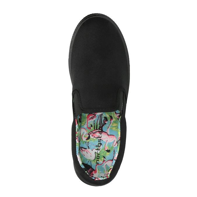 Černé Slip-on na široké podešvi bata, černá, 529-6631 - 19