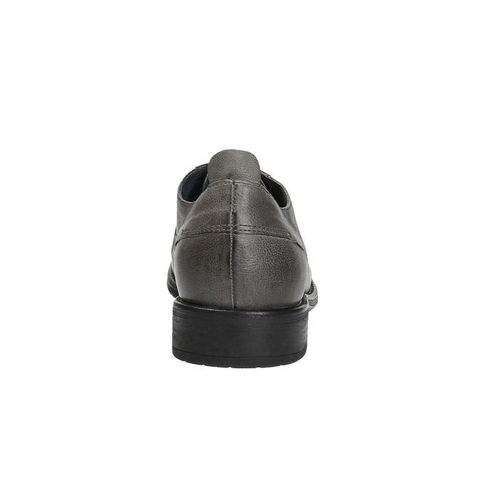 Pánské kožené polobotky v ležérním designu bata, šedá, 826-2732 - 17