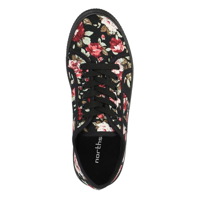 Tenisky s květinovým vzorem bata, černá, 529-0630 - 19