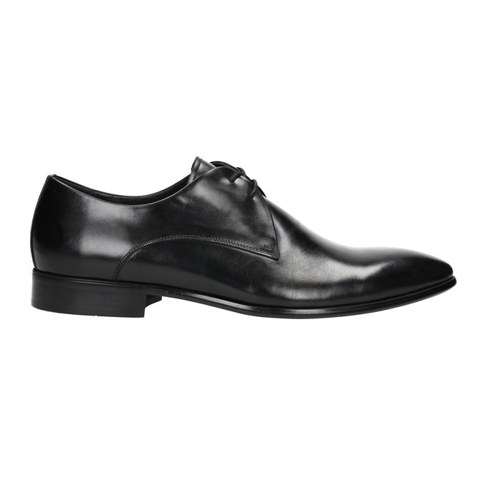 Černé kožené polobotky bata, černá, 826-6648 - 26