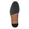 Vínové kožené polobotky bata, červená, 826-5645 - 26