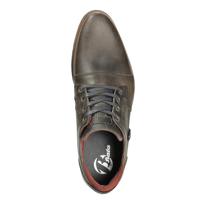 Kožené polobotky v ležérním stylu bata, šedá, 824-2620 - 19