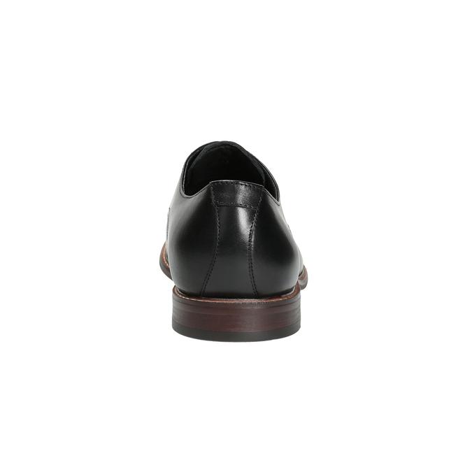 Černé kožené polobotky s výrazným obšitím bata, černá, 824-6684 - 17