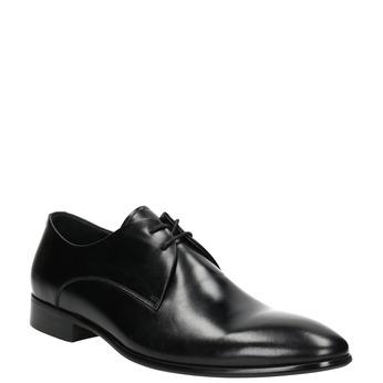 Černé kožené polobotky bata, černá, 826-6648 - 13