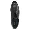Pánské kožené polobotky bugatti, černá, 824-6018 - 19
