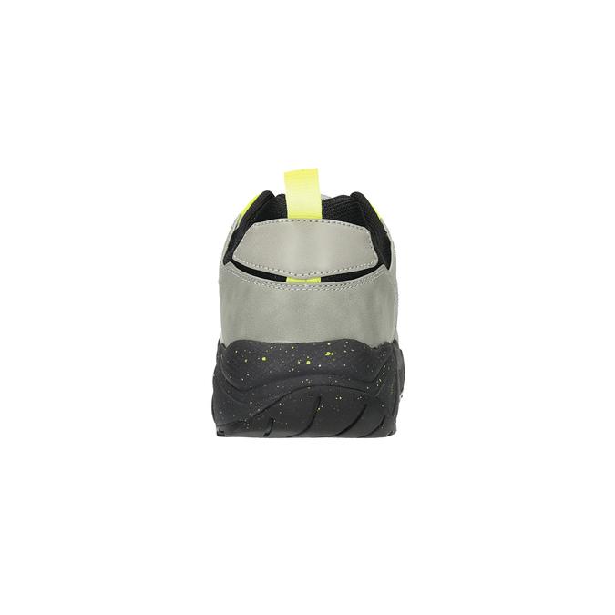 Pánské tenisky na výrazné podešvi bata, šedá, 841-2600 - 17