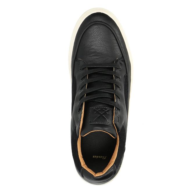 Pánské tenisky na široké podešvi bata, černá, 841-6605 - 19