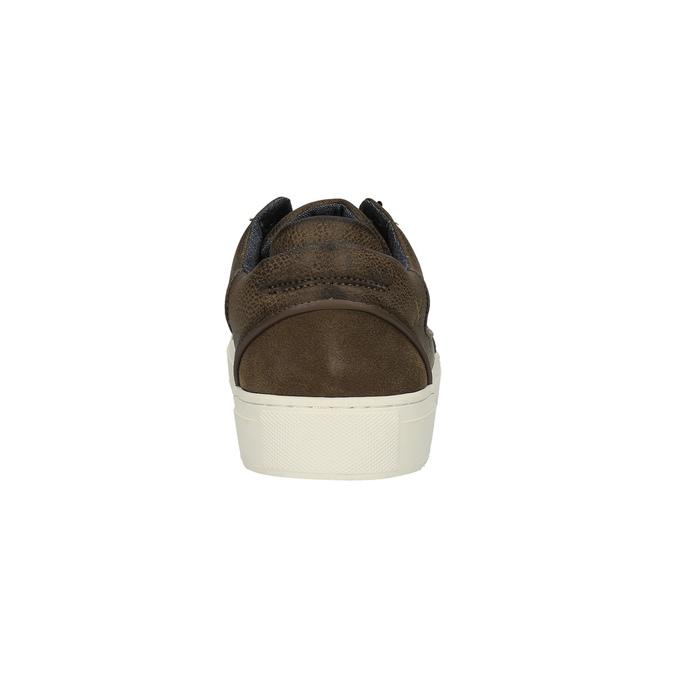 Pánské tenisky na široké podešvi bata, hnědá, 841-4606 - 17