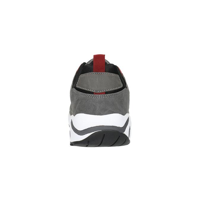 Pánské tenisky na výrazné podešvi bata, šedá, 841-2602 - 17