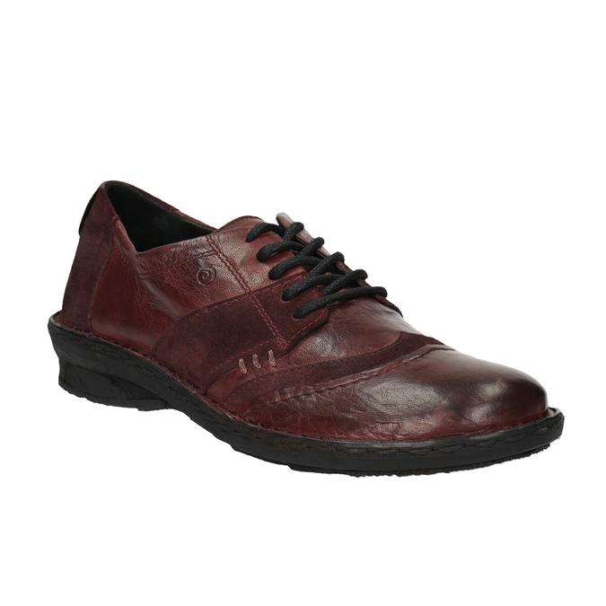 Dámská kožená obuv bata, červená, 526-5601 - 13