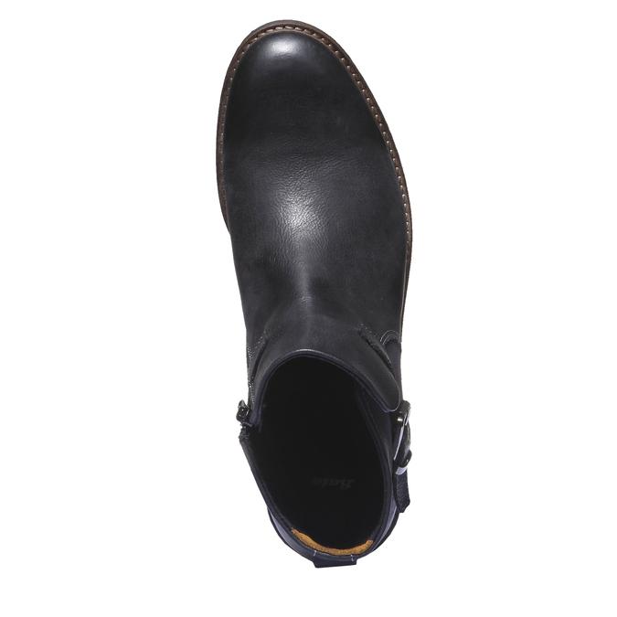 Kožená kotníčková obuv bata, černá, 894-6107 - 19