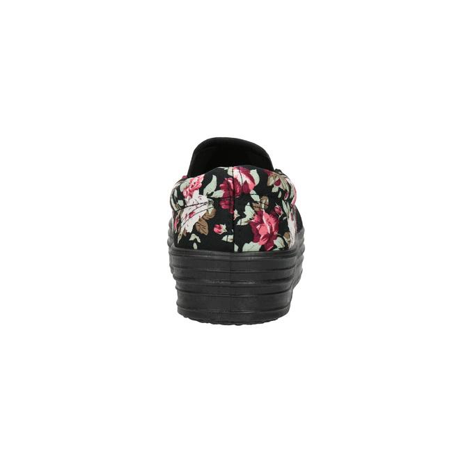 Dámské Slip-on s květinovým vzorem bata, černá, 529-0631 - 17