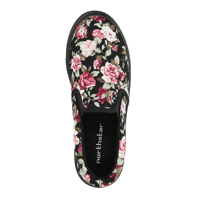 Dámské Slip-on s květinovým vzorem bata, černá, 529-0631 - 19