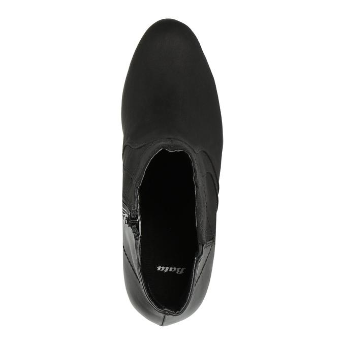 Kotníčková obuv na podpatku bata, černá, 791-6602 - 19