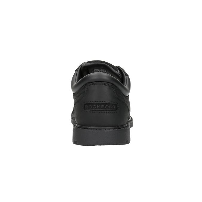Ležérní kožené polobotky na výrazné podešvi rockport, černá, 826-6107 - 17