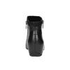 Kožená kotníčková obuv na klínovém podpatku rockport, černá, 614-6003 - 17