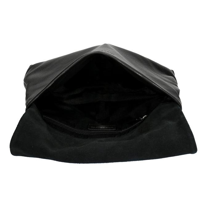 Menší kožená kabelka s řetízkem vagabond, černá, 964-6005 - 15