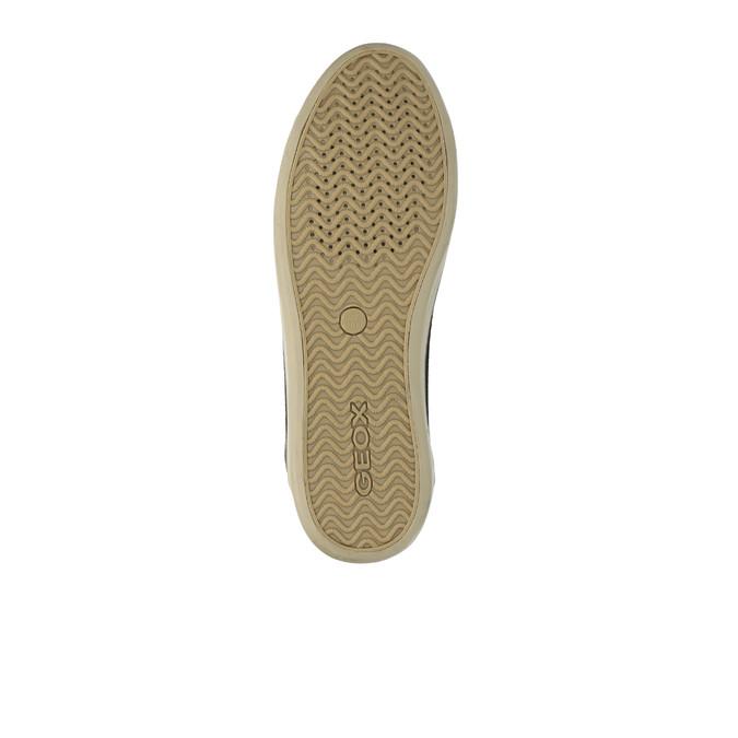 Kožené kotníčkové tenisky s prodyšnou podešví geox, hnědá, 823-4031 - 26