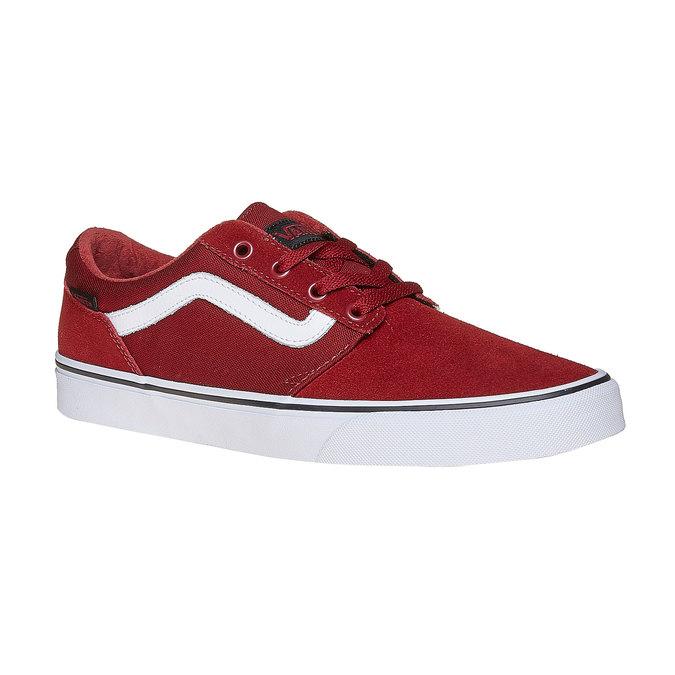 Pánské kožené tenisky vans, červená, 803-5303 - 13