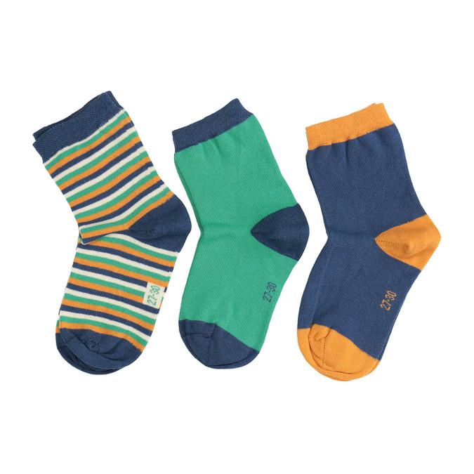Dětské barevné ponožky 3 páry bata, 919-0591 - 26