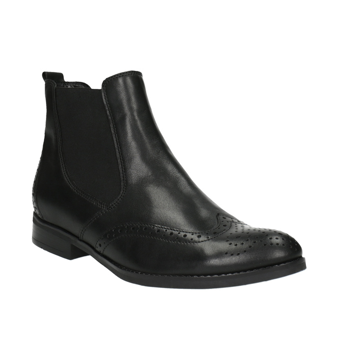 Dámská chelsea obuv se zdobením gabor, černá, 614-6110 - 13