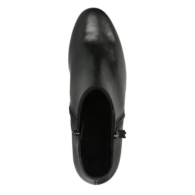 Dámská kotníčková obuv na podpatku gabor, černá, 614-6106 - 19