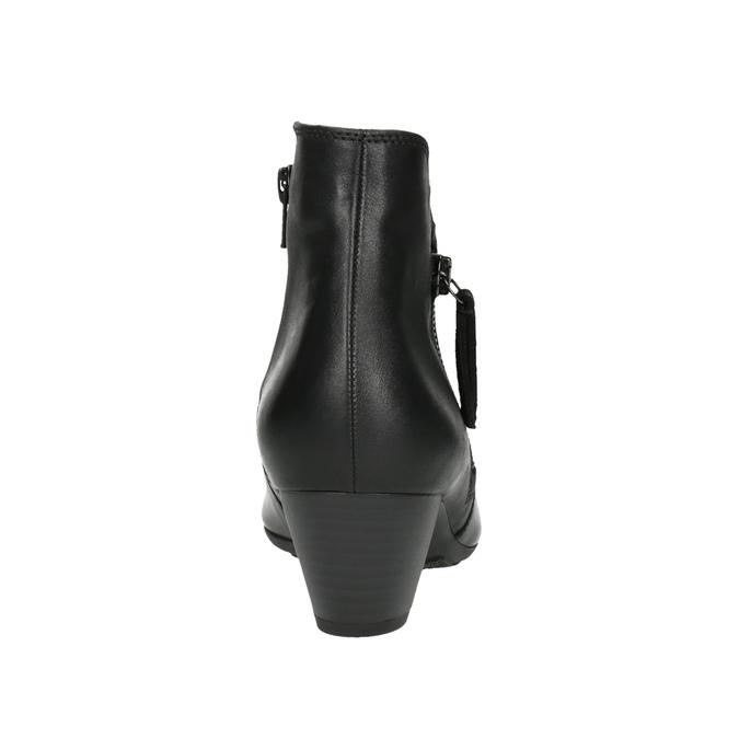 Dámská kotníčková obuv na podpatku gabor, černá, 614-6106 - 17