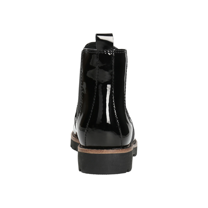 Lakované Chelsea Boots na výrazné podešvi bata, černá, 591-6603 - 17