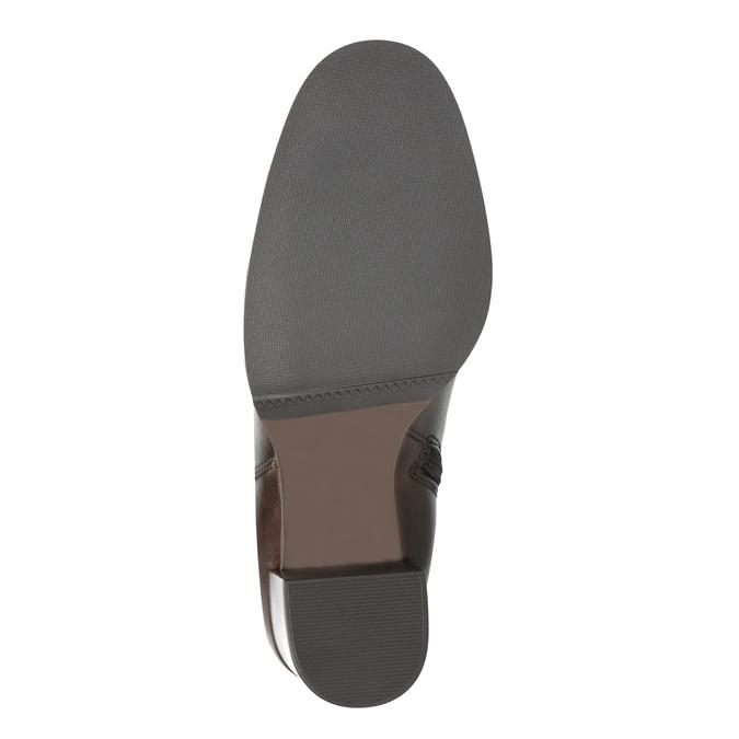 Kožená kotníčková obuv na podpatku bata, hnědá, 794-4635 - 26