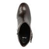 Kožená kotníčková obuv na podpatku bata, hnědá, 794-4635 - 19