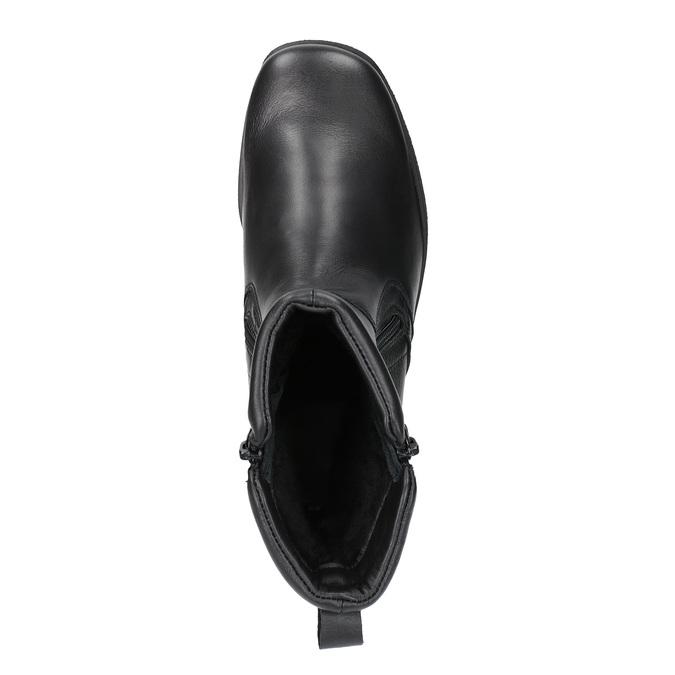 Kožená kotníčková obuv se zipy bata, černá, 594-6634 - 19