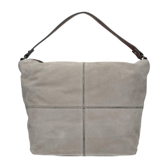 Kožená kabelka v Hobo stylu bata, šedá, 963-2130 - 26