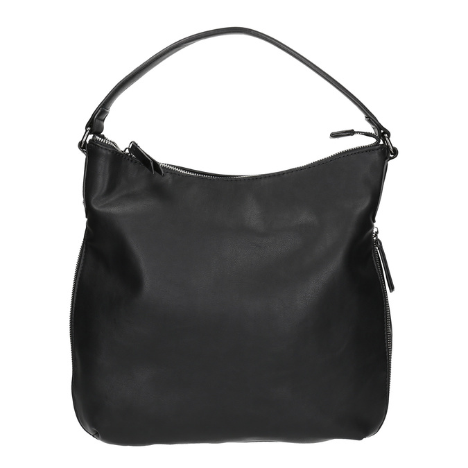 Kabelka v Hobo stylu s detailem zipu bata, černá, 961-6609 - 26