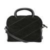 Malá kožená kabelka s popruhem bata, černá, 963-6133 - 19