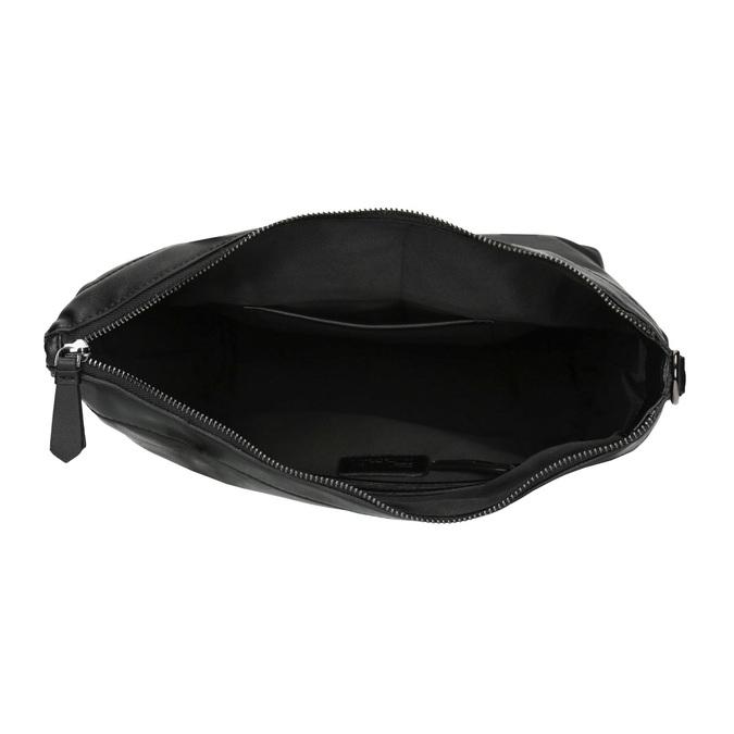 Kožená kabelka s odnímatelným popruhem bata, černá, 964-6234 - 15